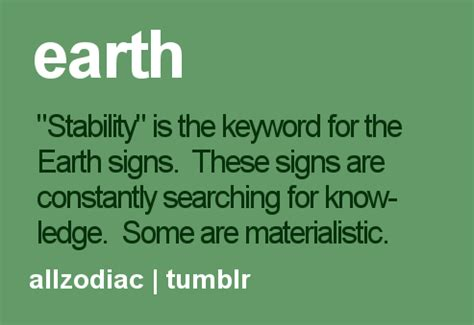 Earth Signs Quotes