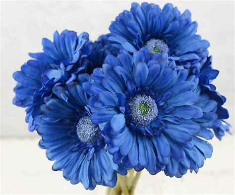 nautical colors 24 blue silk gerbera flowers