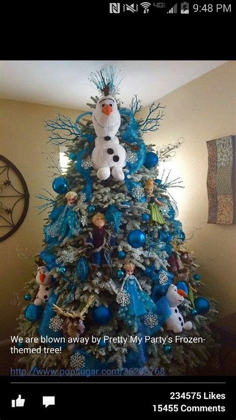disneys frozen themed christmas tree  pinterest