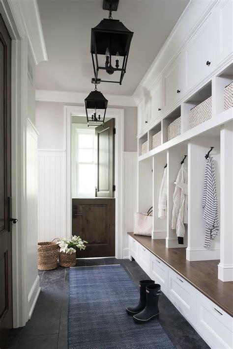 mudroom  dutch door traditional laundry room