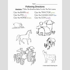 Direction Worksheets  Have Fun Teaching