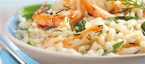 cuisiner epinards risotto aux épinards et aux crevettes recette plaisirs