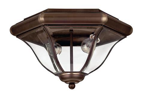 outdoor flush mount ceiling light fixtures hinkley lighting 2443cb copper bronze 2 light outdoor