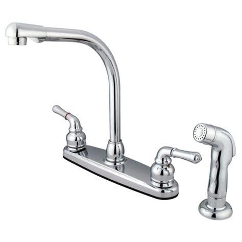high arch kitchen faucet kingston brass chrome 8 quot centerset high arch kitchen
