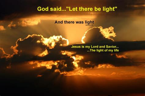 let there be light say what he says