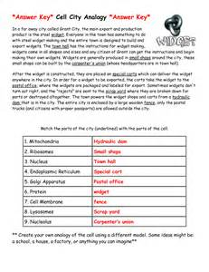 Cell City Analogy Worksheet Answers - Tecnologialinstante