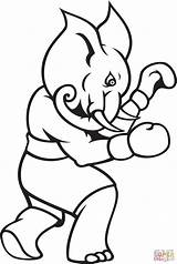 Boxing Coloring Elephant Pages Boxer Printable Template Olympic Popular Categories Supercoloring sketch template