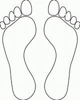 Foot Coloring Pages Bottom Clipart Popular sketch template