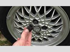 Remove BBS RA alloy wheel bolt cap VW Golf MK2 YouTube