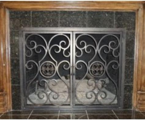 iron fireplace screens custom fireplace screens doors