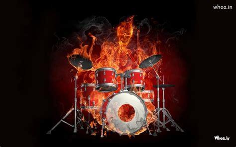 fire musical instrument dark hd wallpaper