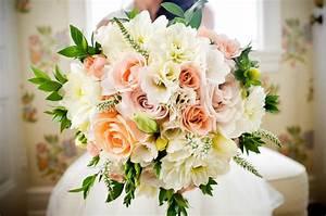 romantic outdoor wedding spring wedding flowers ...