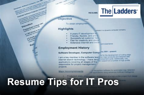five tips for a well done tech resume itbusinessedge