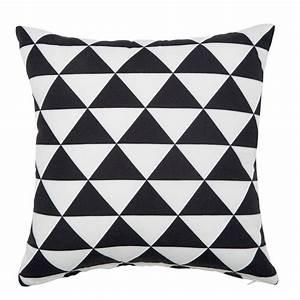 Plaid Noir Et Blanc : coussin d 39 ext rieur noir blanc 40 x 40 cm labrit maisons ~ Dailycaller-alerts.com Idées de Décoration