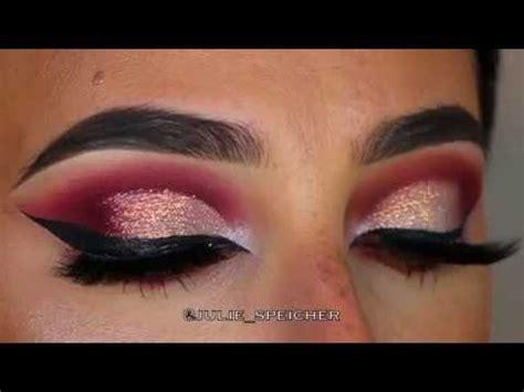 dramatic pink gold eye makeup tutorial youtube