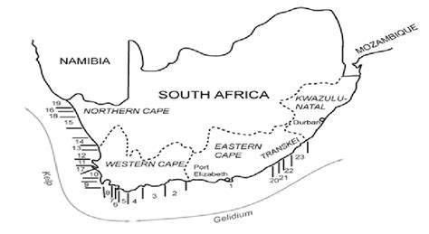 Map Of South Africa Showing Area Of Potential Commercial