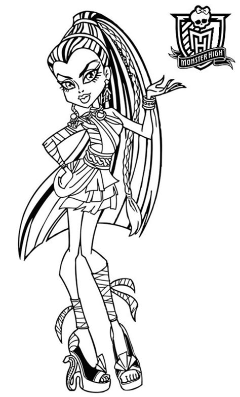 169 Dessins De Coloriage Monster High à Imprimer