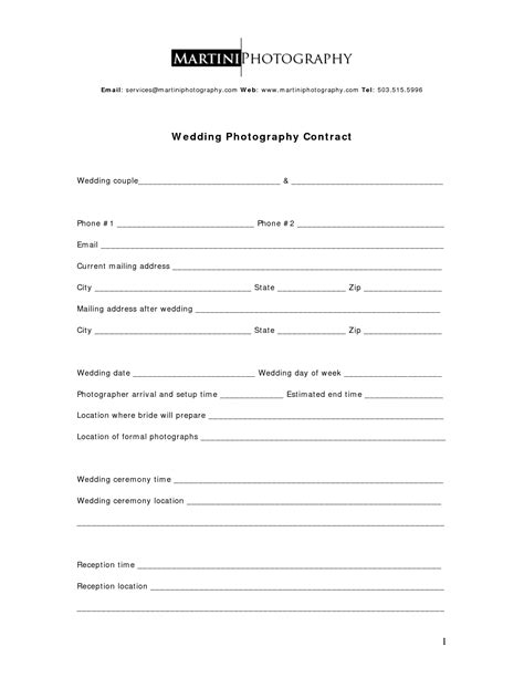 images  photography service contract template