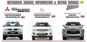 Mitsubishi Pajero Sport 2011  2014  2016 Workshop Manual