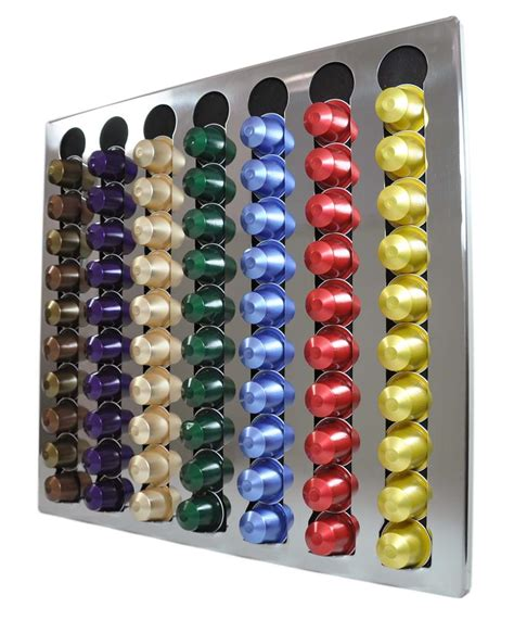 distributeur capsules nespresso mural new nespresso coffee capsules 70 pods wall holder dispenser stainless steel