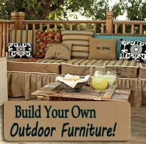 build your own outdoor furniture