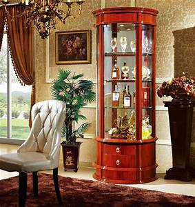 American Latest Wooden Furniture Living Room Glass ...