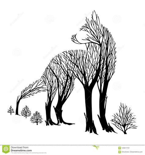 le regard agressif mysterieux de loup de retour