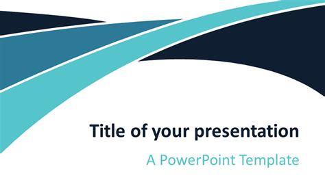 widescreen template png blue wave powerpoint template presentationgo