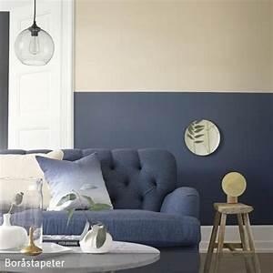 Grau Blaue Wand : dunkelblaue wandfarbe in 2019 hauskram beige wohnzimmer wandfarbe wohnzimmer und ~ Watch28wear.com Haus und Dekorationen