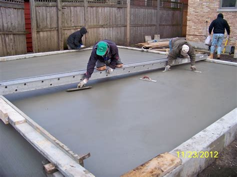 cost to pour a garage slab concrete contractor chicago stairs landings slabs
