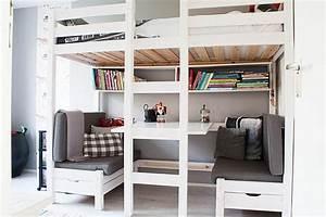 Lit Mezzanine Double : lit mezzanine avec bureau int gr 29 id es pratiques ~ Premium-room.com Idées de Décoration