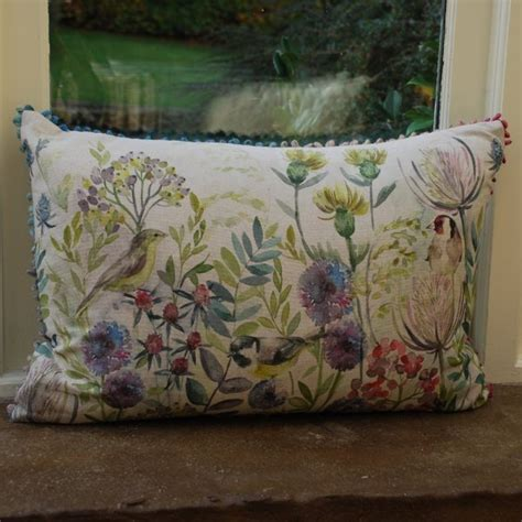 buy morning chorus linen print cushion voyage maison cushion