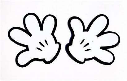 Mickey Mouse Hands Cut Minnie Silhouette Gloves