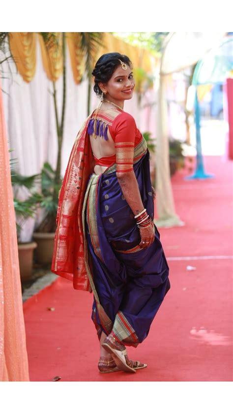 marathi mulgi indian saree blouses designs saree blouse