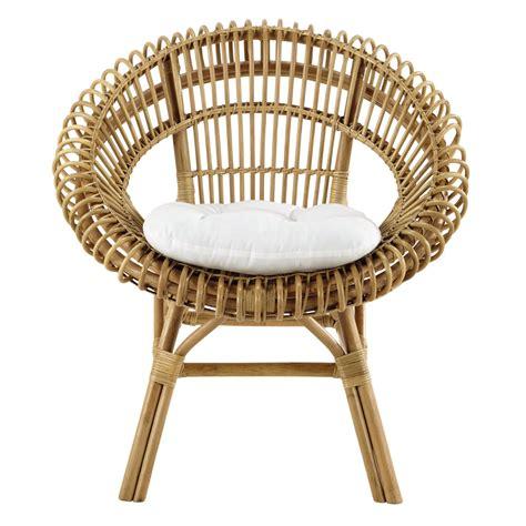 fauteuil en rotin smoothie maisons du monde