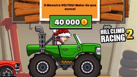 hill climb racing monster truck comprando o monster truck no hill climb racing 2 youtube