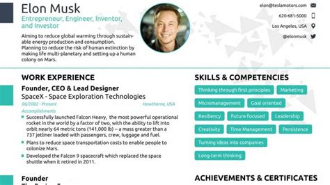 can anyone fit elon musk s resume in a single page a