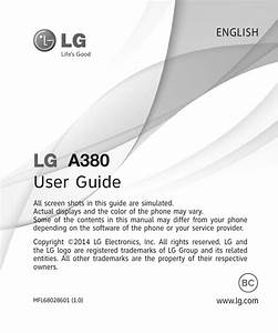 Lg A380 User Manual