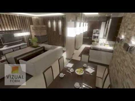 Das Projekt Angeordnet Wohnzimmer Mit Küche Wohnund