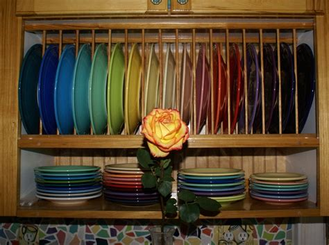 fiestaware display ideas images  pinterest