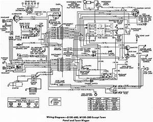 Electrical Wiring Diagram Of Dodge D100 D600 And W100 W500  60414