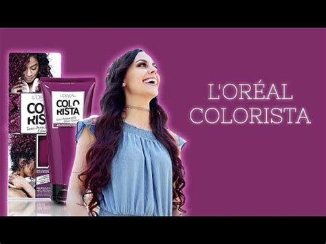 dyeing  hair burgundy loreal colorista review youtube