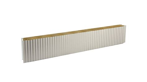 mineral wool insulated facade panel