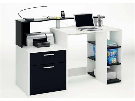 d o bureau bureau oracle coloris blanc noir vente de bureau