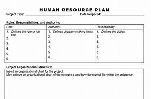 human resource plan http wwwplanningengineernet With human resource plan template pmbok