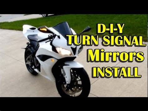 honda cbrrr mirrors  turn signals installation step  step instructions youtube