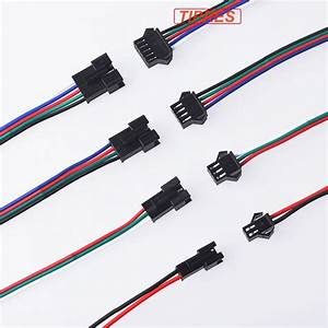 2pin 3pin 4pin Led Connector Male  Female Jst Sm 2 3 4 5pin Plug Connector Wire Cable For Led