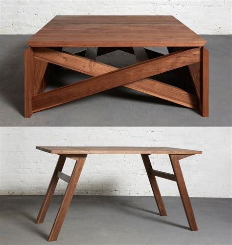 Convertible Wooden Furniture  Mk1 Transforming Coffee Table