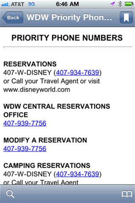 disney cruise phone number walt disney world phone numbers on the app store