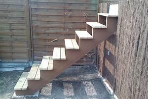 construire un escalier exterieur en bois evtod With fabriquer escalier exterieur bois